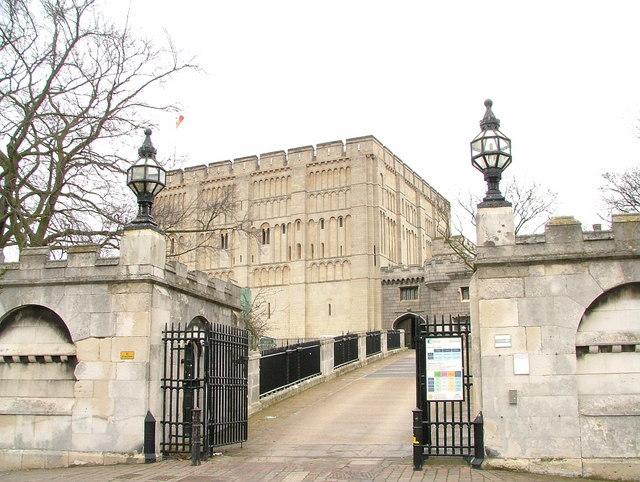 Entrance to Norwich Castle.