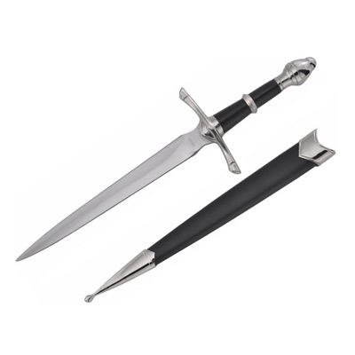 Medieval Dagger with Black Scabbard