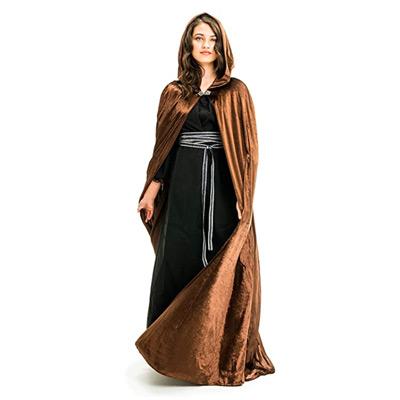 Velvet Cloak with Hood