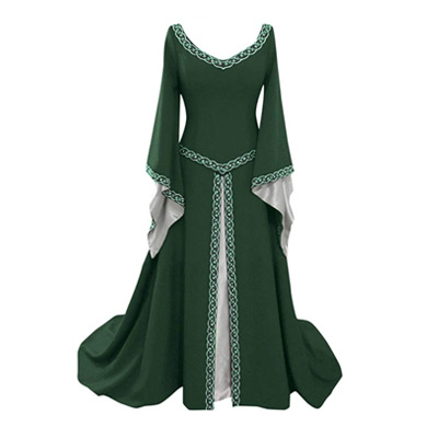 Lace up Medieval Long Dress