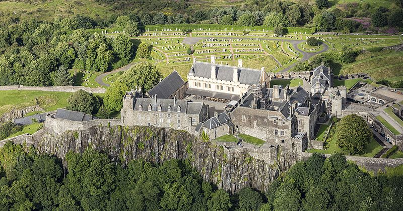 Stirling Castle - Aerial View.