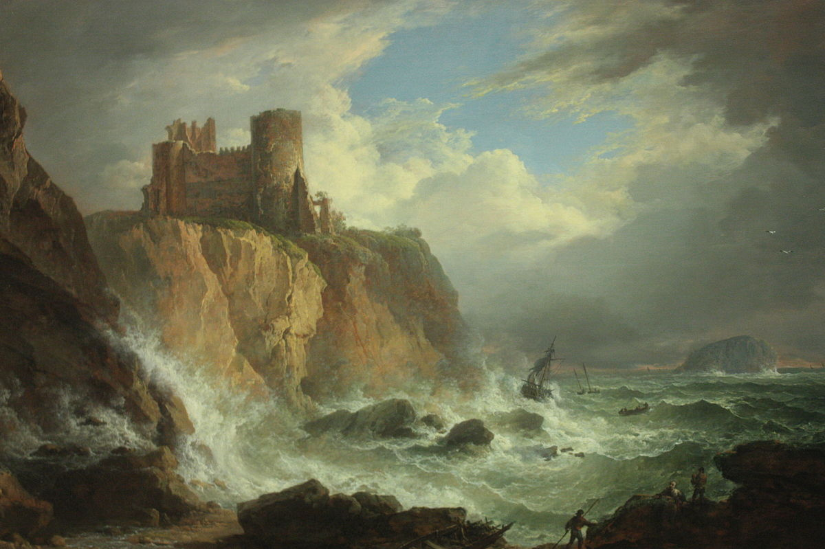 View of Tantallon Castle and the Bass Rock by Alexander Nasmyth, 18th-19th century.