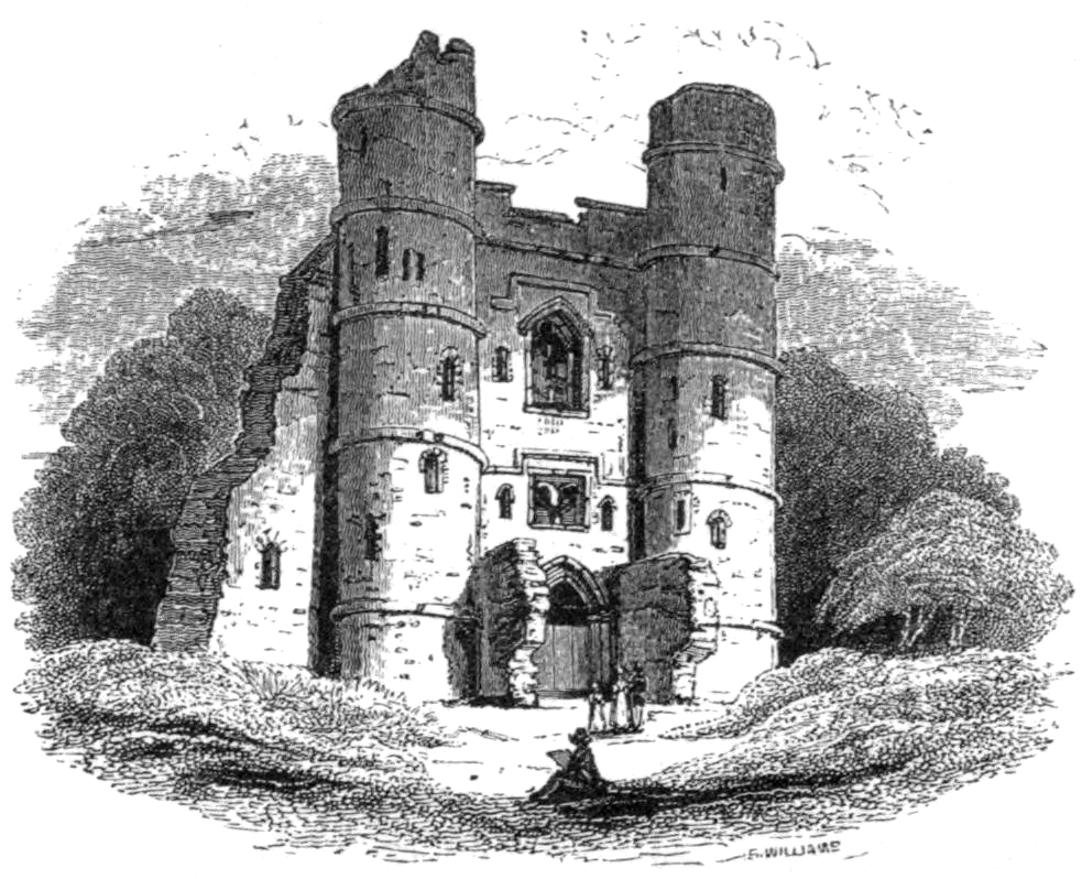 Gateway to Donnington Castle, the last country residence of Chaucer.