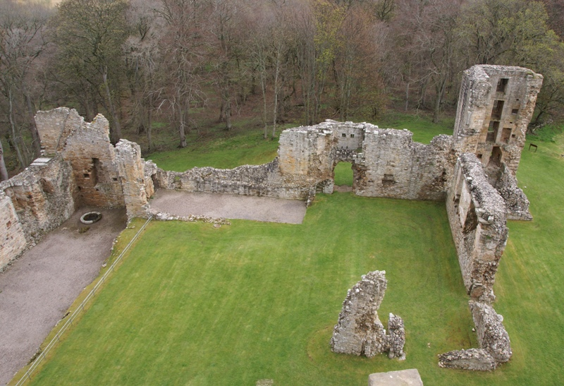 Spynie Palace, East range from the West.