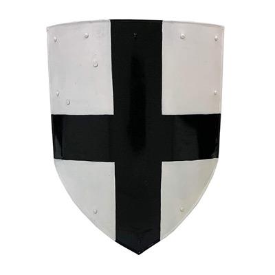 Medieval Metal Cross Templar Shield