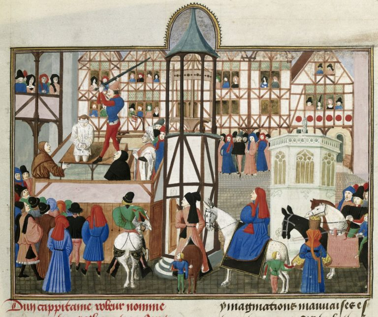 15th century scene of an execution – British Library MS Harley 4379 f. 64