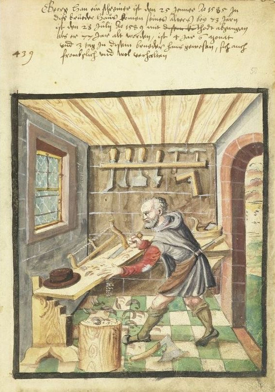 A 16th Century Carpenter.