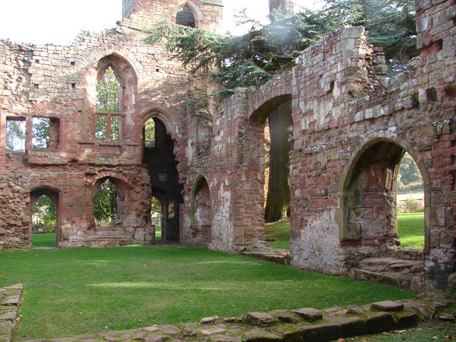 Acton Burnell Castle - Ruined Interior.