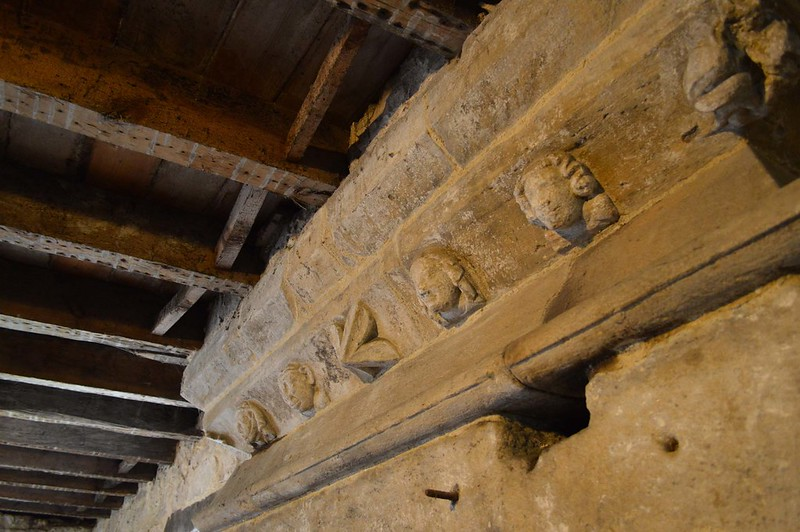 A group of effigies in Aydon Castle.