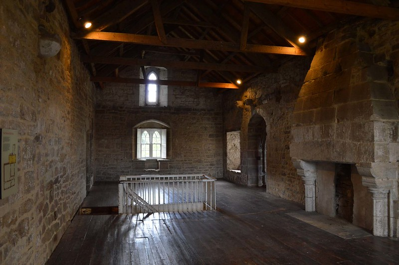 A great hall in Aydon Castle.