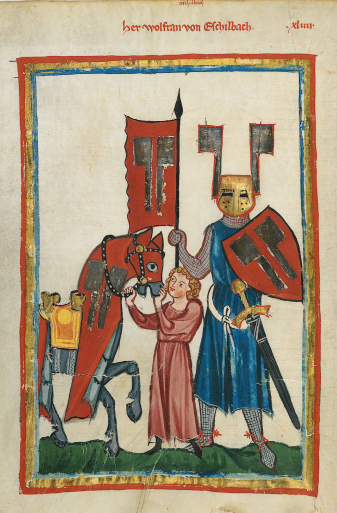 Wolfram von Eschenbach and his squire
