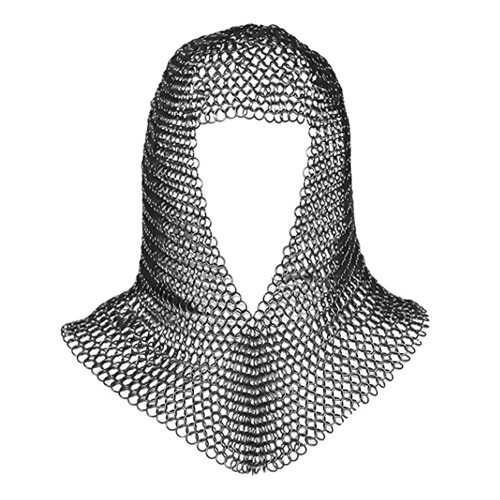 Chainmail Coif Medieval Knight Renaissance Armor Chain Mail Hood Viking LARP 16 Gauge