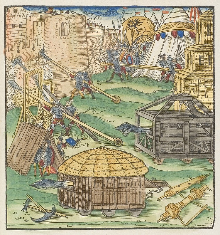 Siege of a city, siege engines
