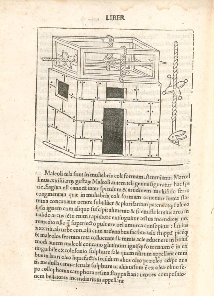 Torsion springald in Roberto Valturio's De Re Militari (1472)