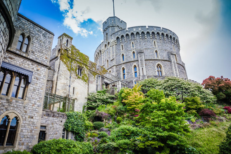 British Medieval Castles: Windsor Castle. Image courtesy of Flickr commons and Kevin Spencer.