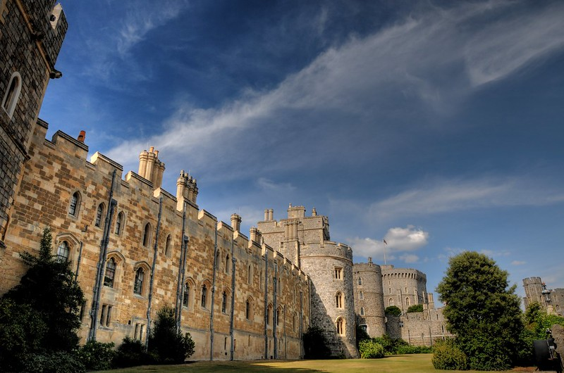 The walls of Windsor Castle. Image courtesy of Flickr commons and Craigr.