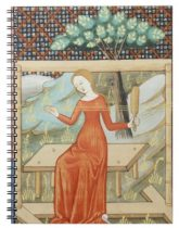 Medieval Notebooks: Arachne weaving on a loom