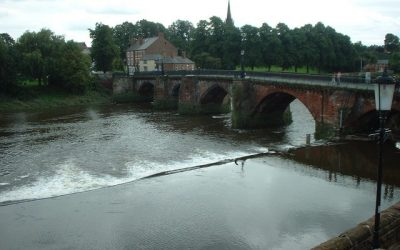 Chester weir and salmon leap