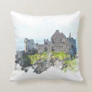Dunluce Castle Cushion