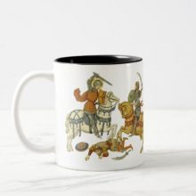 A Knight Saint Fighting in the Crusades Two-Tone Coffee Mug