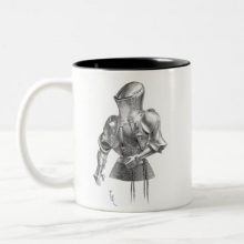 French Jousting Armour (Rennzeug, 1814-1879) Two-Tone Coffee Mug