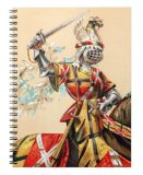 Medieval gift ideas: Knight in colour Notebook