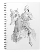 Medieval gift ideas: Knight in pencil Notebook