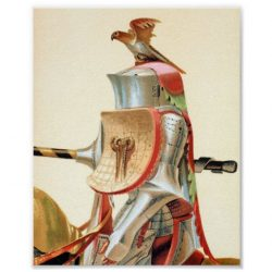 Jouster in Stechzeug Armour (1874) Litograph Poster