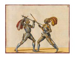 Fencing Manual Opus Amplissimum Arte Athletica 003 Postcard