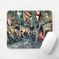 Quest for the Holy Grail Tapestry Deer and Shields Mouse Pad