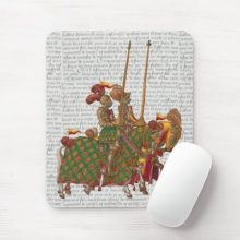 Medieval gift ideas: Jousting Knights Mousepad