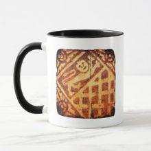 Medieval Ceramic Floor Tile Cardiff Lion Passant Mug
