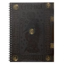 Medieval Black Leather Cover with Studs (1451) Notebook
