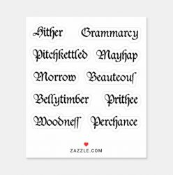 Medieval Word Stickers 1