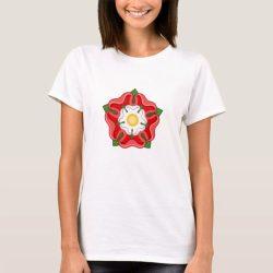 English Red Tudor Rose Heraldic Emblem T-Shirt
