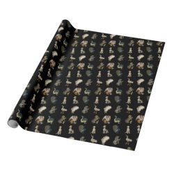 Medieval and Tudor Beasts, Creatures and Animals Wrapping Paper